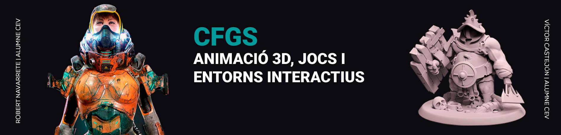 cfgs en animació 3d, jocs i entorns interactius